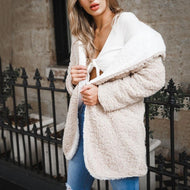 Wearing A Long Coat With Hood On Both Sides Khaki / S