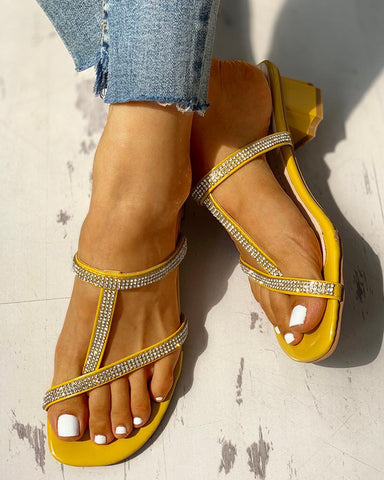 Studded Casual Chunky Heeled Sandals