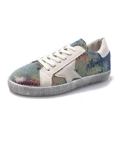 Lace-Up Mesh Glitter Sneaker Gold / 35 Sneakers