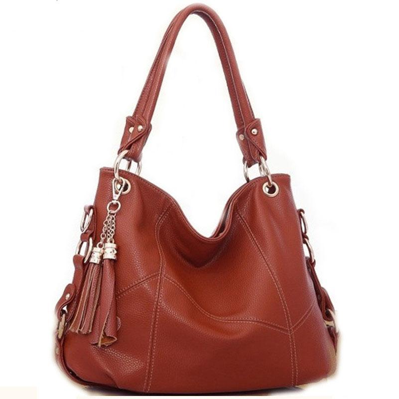 Pu Women Handbag Tassel Fashion Bags Brown / One Size