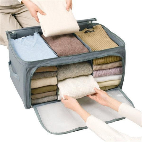 Transparent Clothes Quilts Folding Storage Bags Gray / One Size Bag