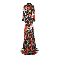 Flash Sale Fashion Print And Foor-Length Dress Maxi