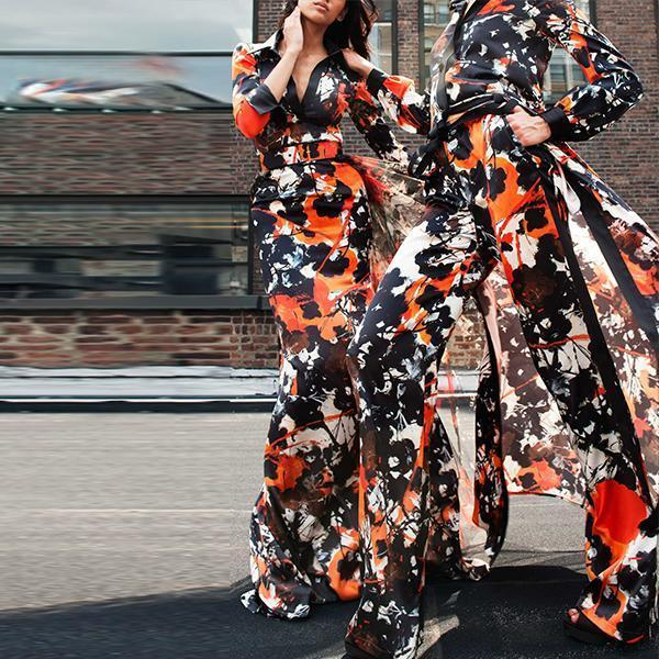 Flash Sale Fashion Print And Foor-Length Dress Same As Photo / S Maxi