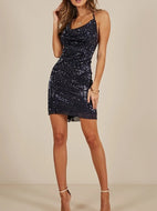 Fashion Sequins Sling Sleeveless Bodycon Dresses Dress