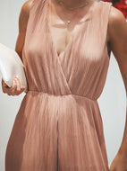 Sexy Bare Back High-Waist Broad Leg Jumpsuits Jumpsuit
