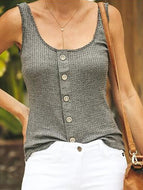 Casual Pure Colour Sleeveless Sling Vest Vests