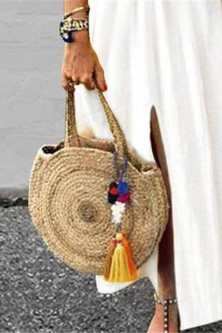 Holiday Pastoral Wind Corn Woven Shoulder Bag Bag