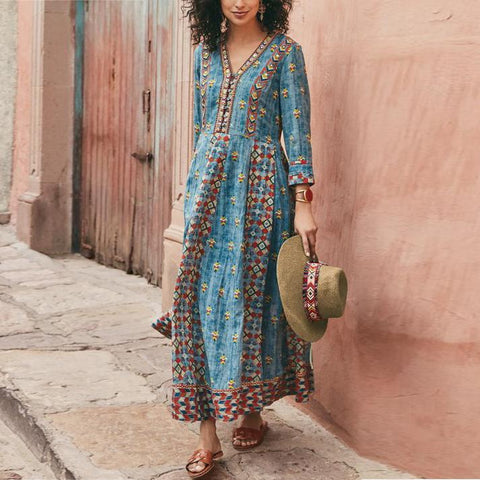 Fashionable Print Dress