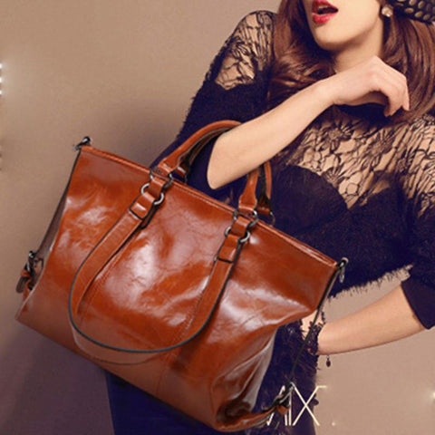 Autumn And Winter New Womens Fashion Retro Handbag Shoulder Bag Brown / One Size Accessories