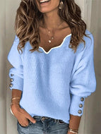 Womens Fashion V-Neck Sweater