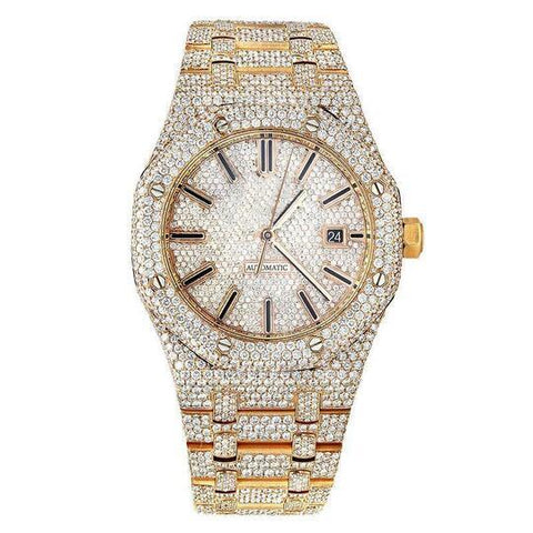 DIAMOND WATCH FOR MEN -(BUY 2 FREE SHIPPING)