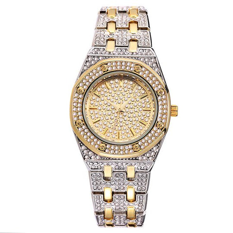 Gold Bling Diamond Luxury Watches for Female