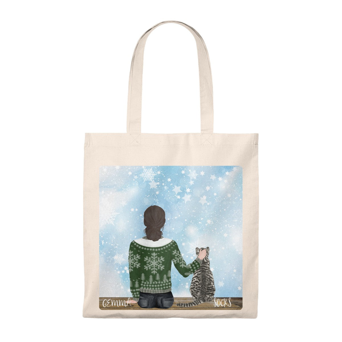 Custom Cat and Owner Tote Bag