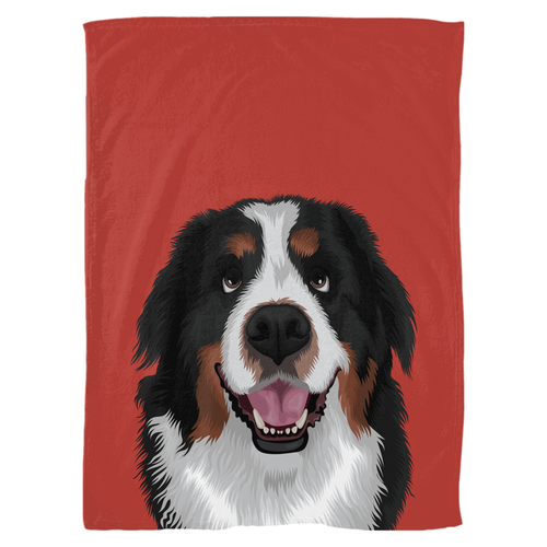 Pet Portrait Fleece Blanket