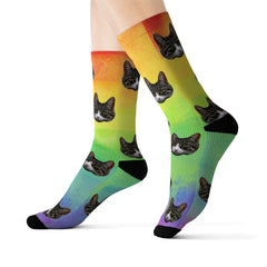 Your Pet On Socks - Rainbow