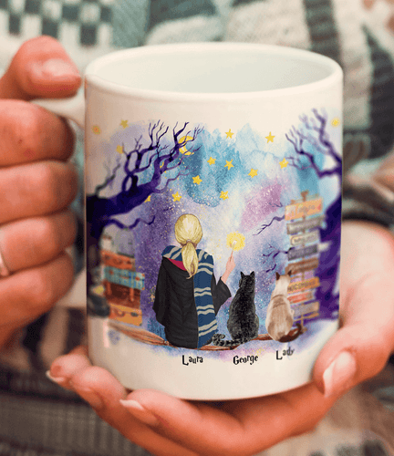 Two Cats Witch Mug