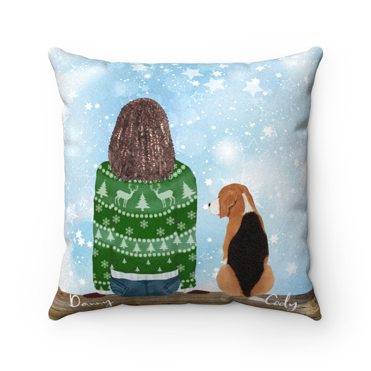 Custom Dog and Owner Cushion