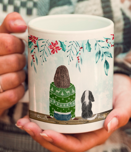 Custom Dog and Owner Mug