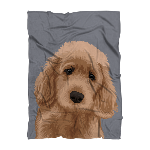 Jackie Pet Portrait Blanket
