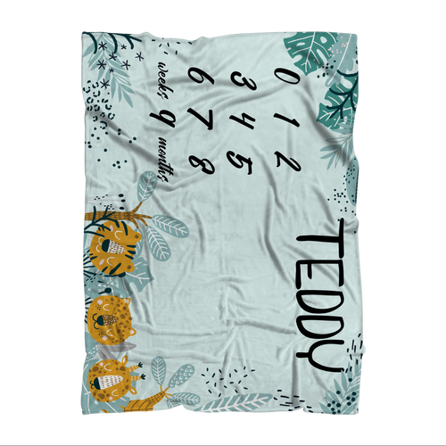TEST MILESTONE Sublimation Throw Blanket