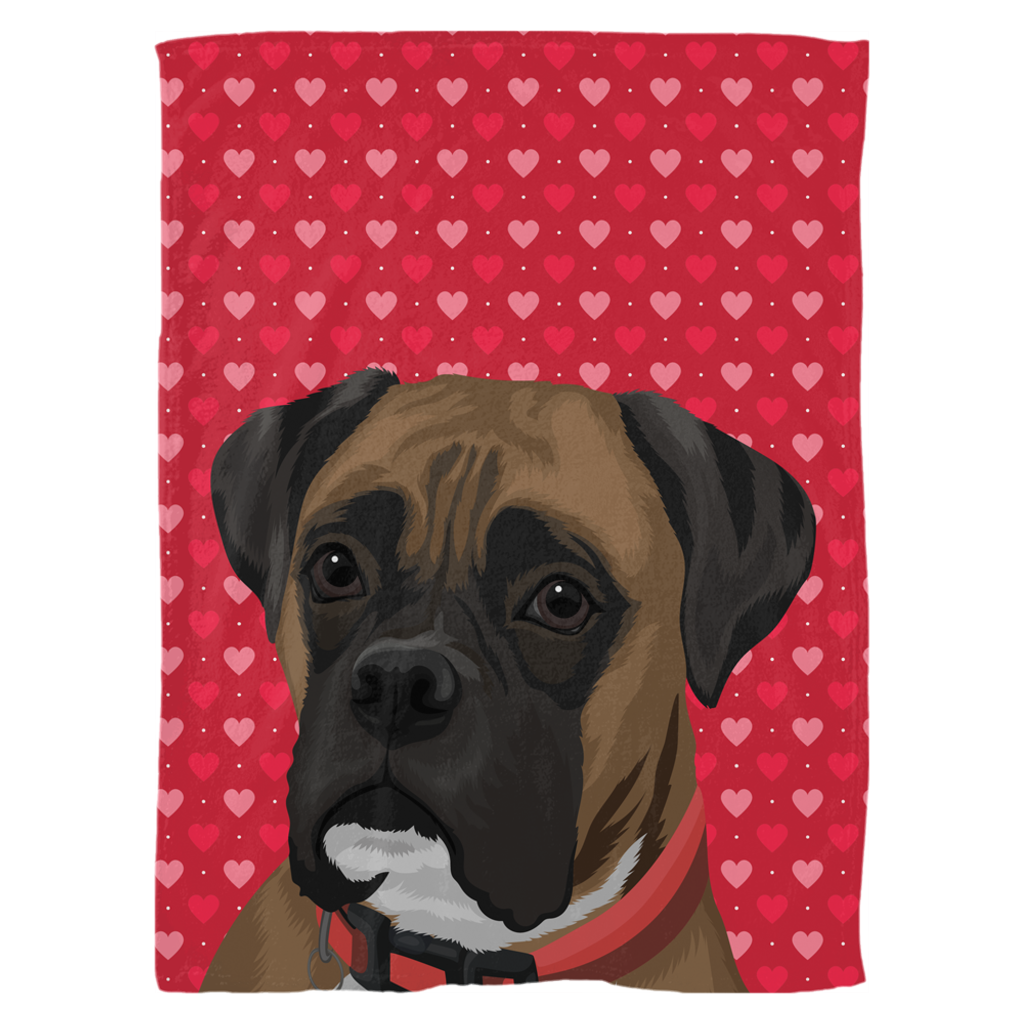 Valentine's Edition Pet Portrait Fleece Blanket