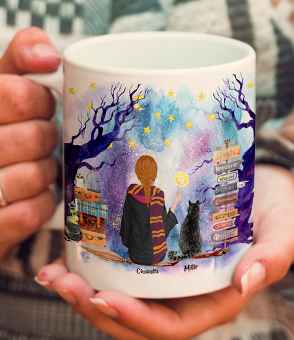 Custom Cat and Witch Mug