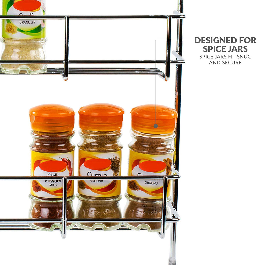 Chrome 5 Tier Wall Mounted Spice Rack Glow Wholesale