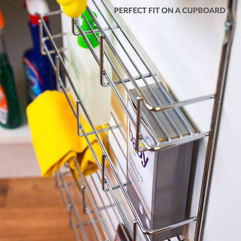 Image of: Chrome 5 Tier Wall Mounted Spice Rack Glow Wholesale
