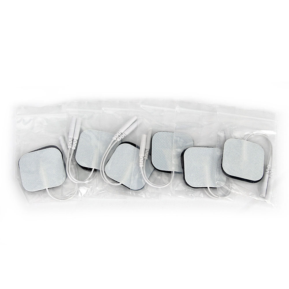 10 pcs(5 pairs) Self Adhesive Replacement Tens Electrode Pads Square 4*4cm Muscle Stimulator Electric Digital Machine Massager 2