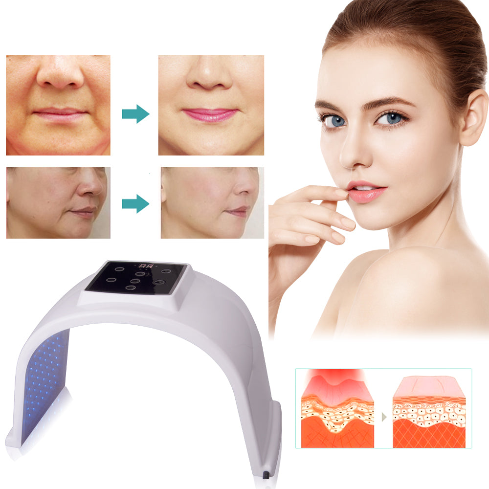 7 Colors LED Photon Light Therapy Lamp Skin Care Photon Rejuvenation Photodynamic Therapy Lamp Facial Mask Massage Machine 0