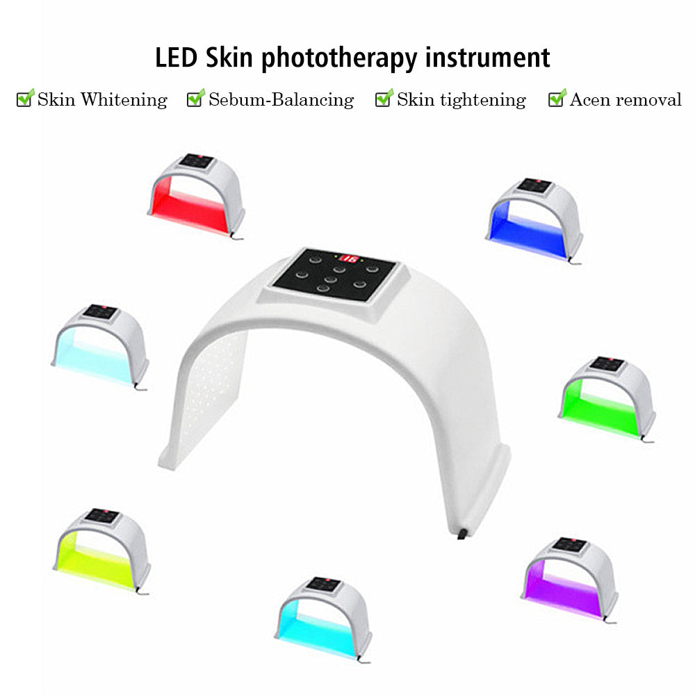 7 Colors LED Photon Light Therapy Lamp Skin Care Photon Rejuvenation Photodynamic Therapy Lamp Facial Mask Massage Machine 2
