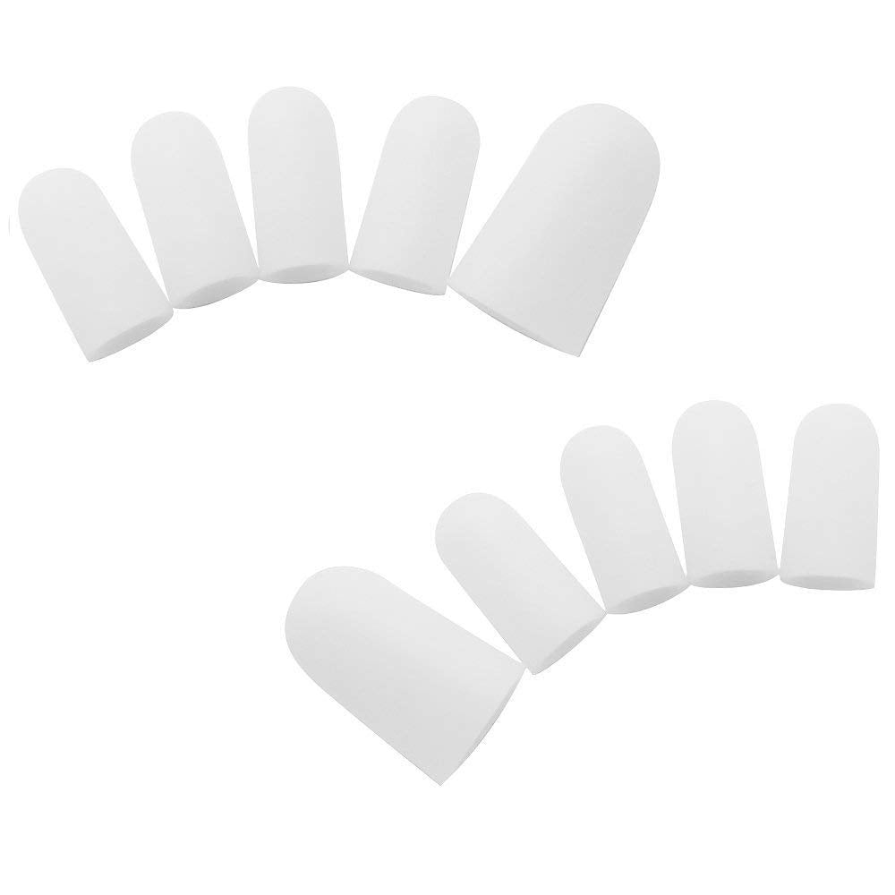 5 Pairs Silicone Toe Sleeve Feet Pain Relief Toe Cap Cover Protector for Corn Blisters Hallux Valgus Straightener Toe Separators 3