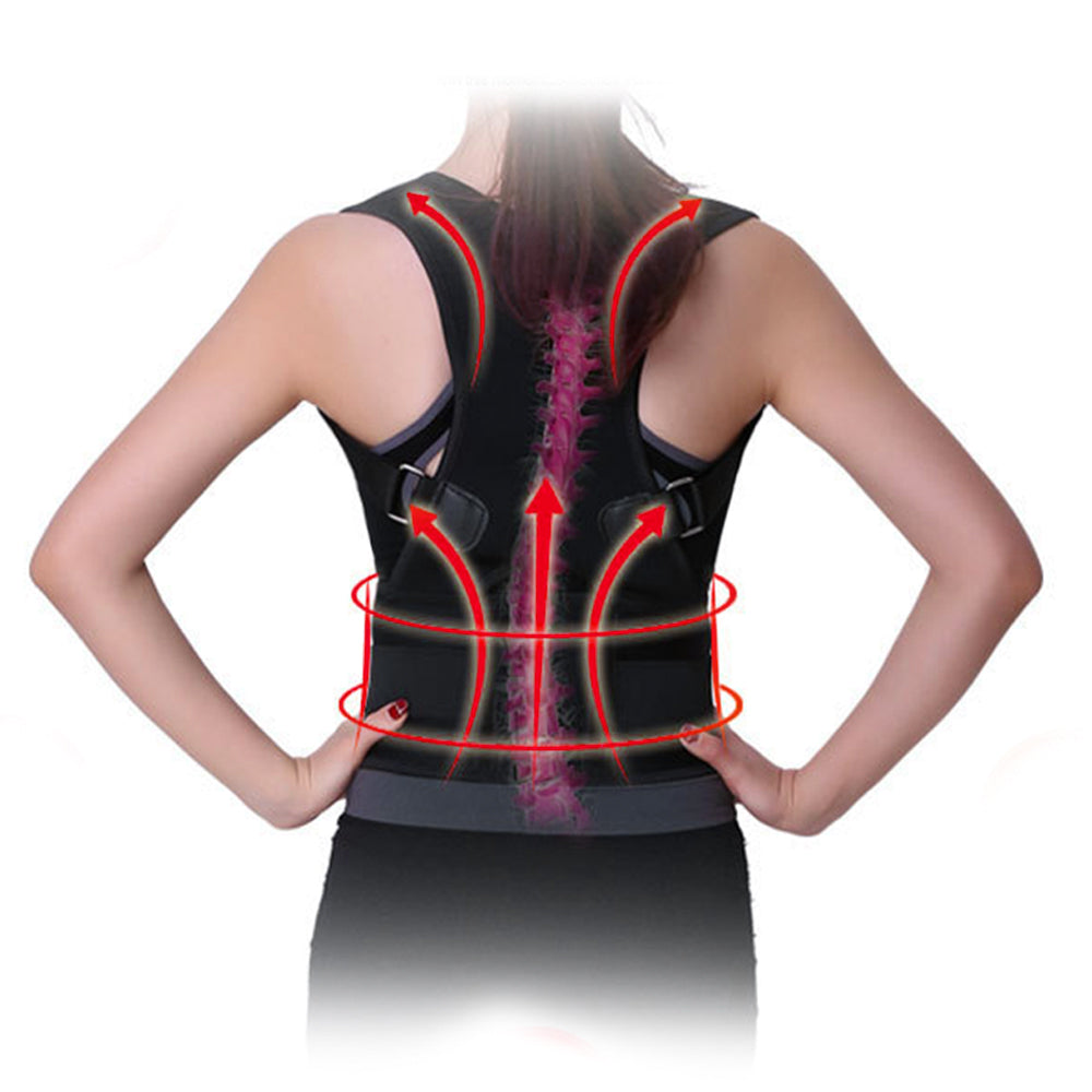 Adjustable Humpback Spine Magnetic Posture Corrector Back Shoulder lumbar Support Posture Correction Therapy Belt S-XXL Unisex 5