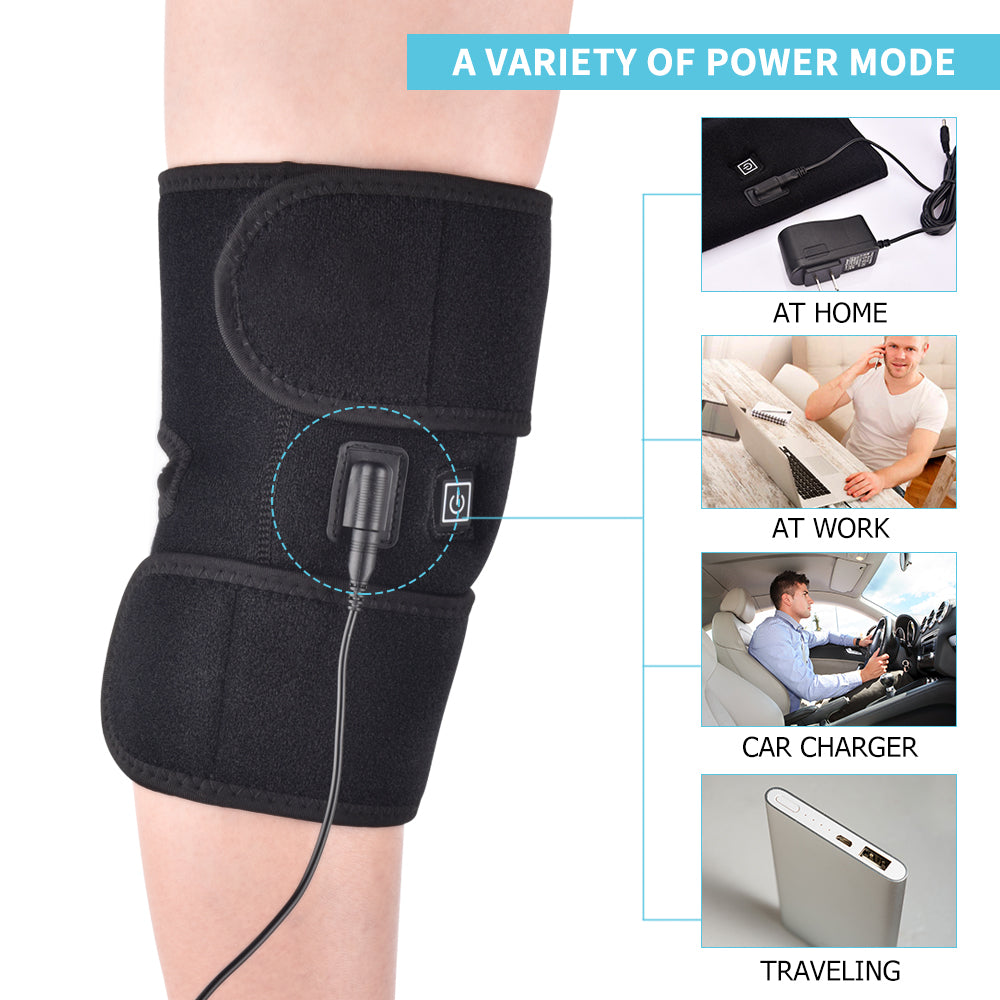 Infrared Heated Knee Brace Wrap Support Massager Injury Cramps Arthritis Recovery Hot Therapy Pain Relief Knee Rehabilitation 2