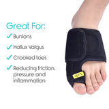 Bzeey Main Image 5-1 Pair Bunion Corrector Toe Straightener & Corrector Pain Relief for Hallux Valgus Crooked Toes Day/Night Support for Men&Women