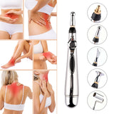 Bzeey Main Image 4-2018 Hottest 5 Massage Heads Meridian Energy Pen Pain Relief Electric Acupuncture Magnet Therapy Pen 9 Gears Body Massage