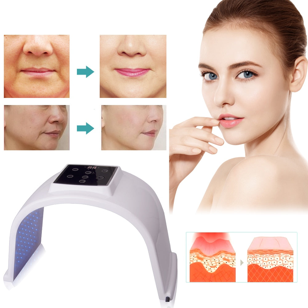 Bzeey Main Image 3-7 Colors LED Photon Light Therapy Lamp Skin Care Photon Rejuvenation Photodynamic Therapy Lamp Facial Mask Massage Machine