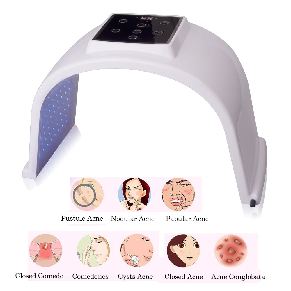 Bzeey Main Image 6-7 Colors LED Photon Light Therapy Lamp Skin Care Photon Rejuvenation Photodynamic Therapy Lamp Facial Mask Massage Machine