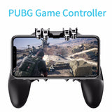 Bzeey Main Image 3-AK66 Six Fingers PUBG Game Controller Gamepad Metal Trigger Shooting Free Fire Gamepad Joystick For IOS Android Mobile Phone
