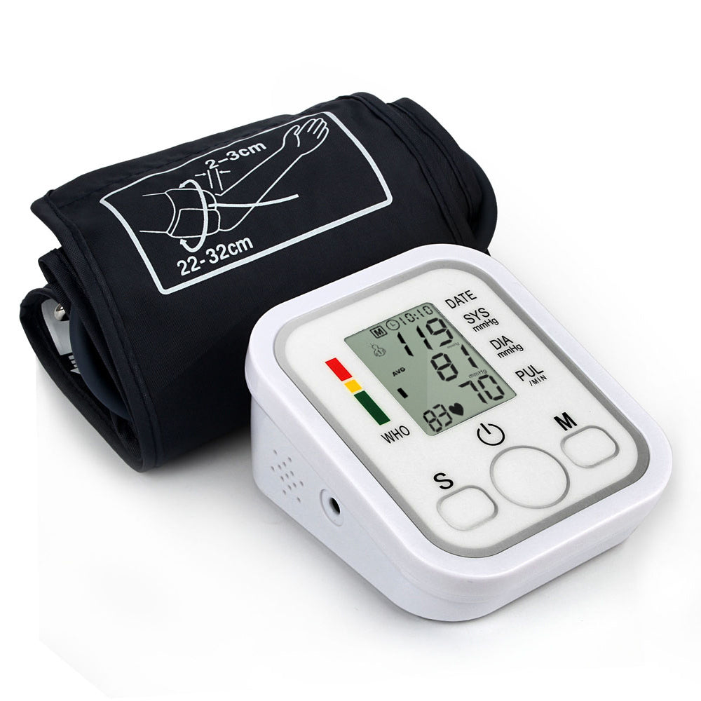 Bzeey Main Image 1-Automatic Upper Arm Digital Blood Pressure Monitor LCD Display Tonometer Meter Sphygmomanometer With Cuff for 22-32cm