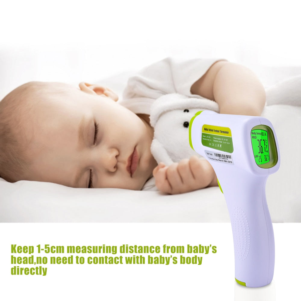 Bzeey Main Image 4-Baby Adult Digital Infrared Forehead Thermometer Multifunctional Body Object Dual Mode Non-Contact Fever Body Thermometer