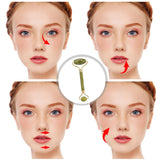 Bzeey Main Image 6-Double Head Facial Massage Jade Roller Face Lift Eye Neck Facial Beauty Massage Slimming Thin Face