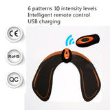 Bzeey Main Image 5-EMS Hips ABS Muscle Stimulator Remote Control Rechargeable Hip Trainer Buttocks Butt Lifting Lift Up Body Sculpting Massager