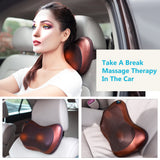 Bzeey Main Image 6-Electric Shiatsu Kneading Neck Massager Shoulder Back Body Massage Pillow Home Car Dual-Use Body Relaxation Pain Relief Massager