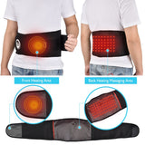 Bzeey Main Image 4-Far infrared Heat Therapy Waist Massage Back Belt Herniated Disc Scoliosis Back Pain Lower Support Brace Spine Lumbar Support