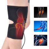 Bzeey Main Image 1-Infrared Heated Knee Brace Wrap Support Massager Injury Cramps Arthritis Recovery Hot Therapy Pain Relief Knee Rehabilitation