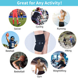 Bzeey Main Image 6-Infrared Heated Knee Brace Wrap Support Massager Injury Cramps Arthritis Recovery Hot Therapy Pain Relief Knee Rehabilitation