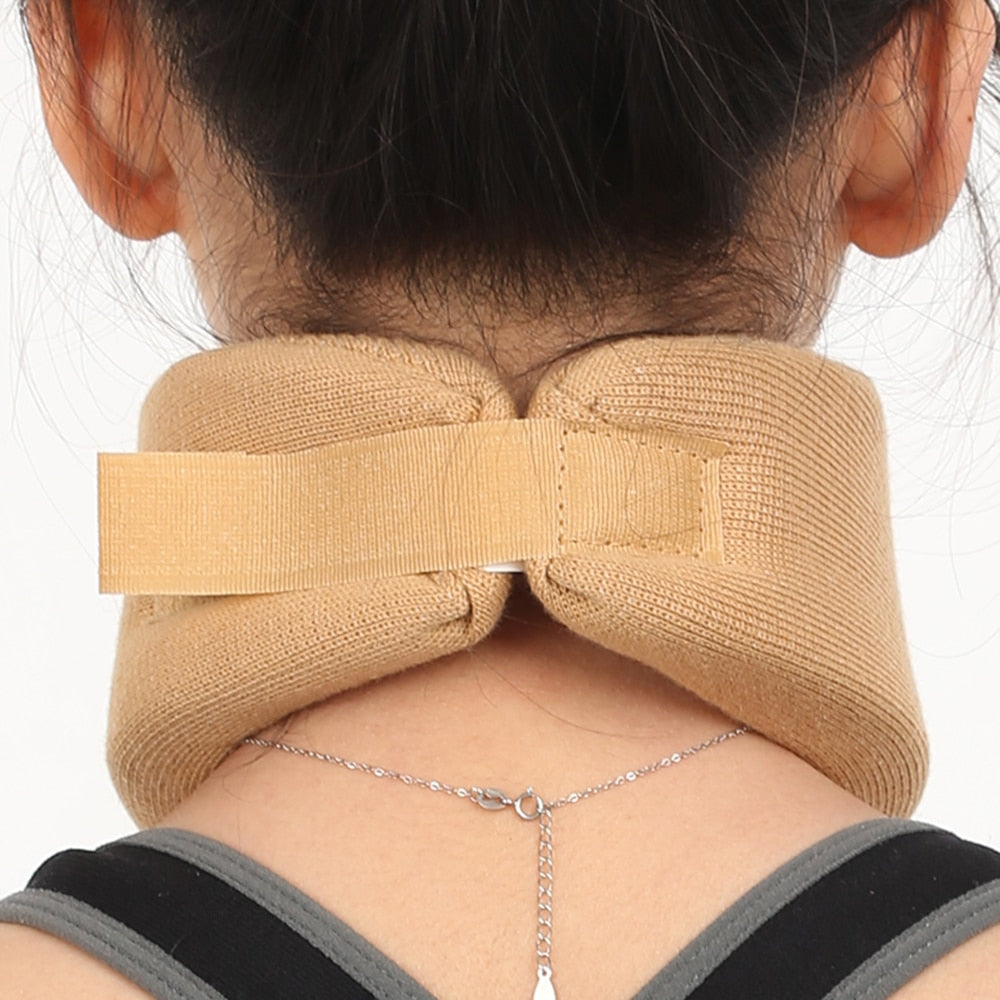 Bzeey Main Image 2-Sponge Split Neck Support Medical Cervical Collar Traction Device Brace Stretcher Pain Relief Vertebra Dislocation Fixation