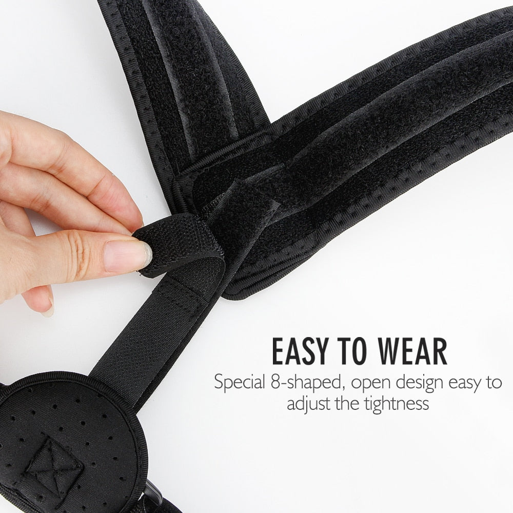 Bzeey Main Image 2-Upper Back Posture Corrector Adjustable Clavicle Support Strap Unisex Adult Back Shoulder Posture Correction Spine Support