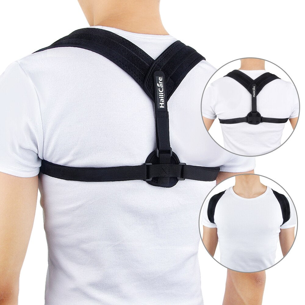 Bzeey Main Image 6-Upper Back Posture Corrector Adjustable Clavicle Support Strap Unisex Adult Back Shoulder Posture Correction Spine Support